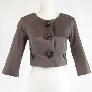 Baraschi gray 3/4 sleeve bolero jacket 2